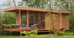 Ceder houten guesthouse Wouwse Plantage