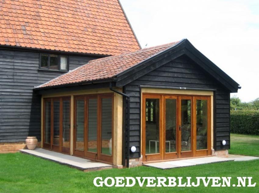 Aanbouw huis for Timber garden rooms
